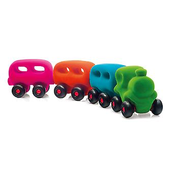 Rubbabu Magnetic Train Vehicle Educatieve Eco Friendly Playset Speelgoed