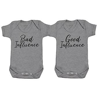 Good And Bad Influence - Twin Set - Baby Bodysuits
