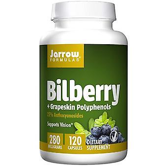 Bilberry + Polifenoles de piel de uva 280 mg (120 cápsulas vegetarianas) - Fórmulas Jarrow
