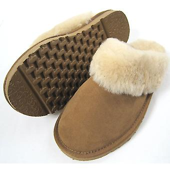 Snugrugs Ladies Sheepskin Mule with Wool Cuff