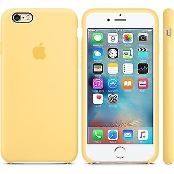 Original Packaging Apple Silicone Cover Case Microfiber for iPhone 6 6S in Yellow