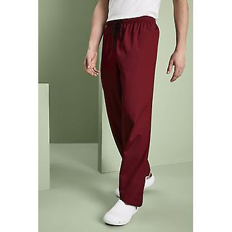 SIMON JERSEY Essentials Unisex Lightweight Scrub Trousers, Burgundy