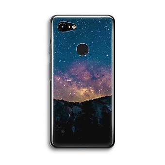 Google Pixel 3 Transparent Case (Soft) - Travel to space