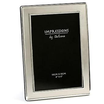 Impressions By Juliana Silver Plated Satin Plain 4 X 6 Photo Frame
