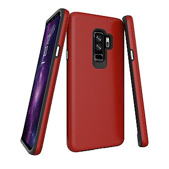 Für Samsung Galaxy S9 + PLUS Fall, rote Rüstung stoßfeste Schutztelefonabdeckung