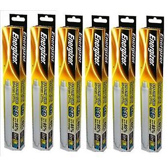 6 X Energizer LED Strip Energy Saving Lightbulb S15 5.5w = 50w 550lm Warm White[Energy Class A+]