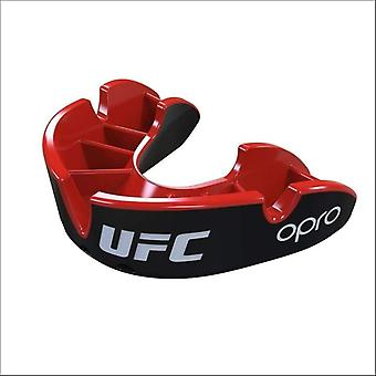 Opro junior ufc silver mouth guard black/red