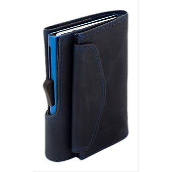 C-Secure Limited Edition Coin Pocket Card Holder Wallet - Naval/Blue
