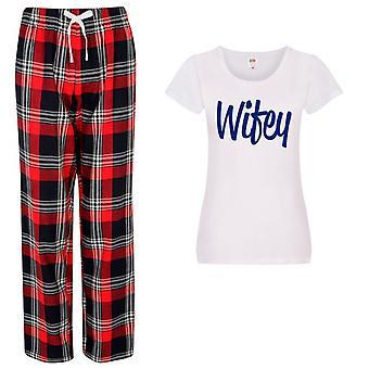 Hyvät Vaimo Tartan Housut Pyjamat