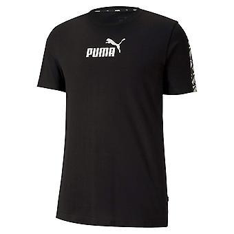Puma Amplified Mens Sport Fashion Cotton Short Sleeve T-Shirt Te Black