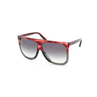Loewe Filipa LW40001I 68B Striped Burgundy /Grey Gradient Sunglasses