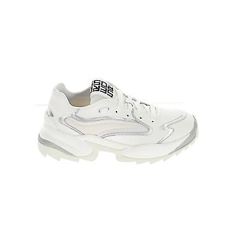Sergio Rossi A86730mfn7409565 Women's White Leather Sneakers