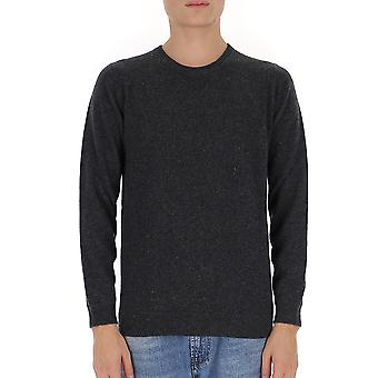 Laneus K2153cc11antracite Men's Grey Wool Sweater
