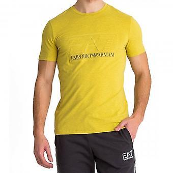 EA7 Emporio Armani Logo Crew Neck T-Shirt Yellow Marl 3HPT13 PJ03Z