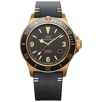 Combat Vintage Analog Men's Automatic Watch with Cowskin Bracelet GL0265