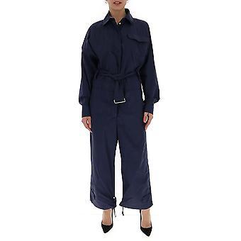 Moncler Genius 2g705c0406778 Women's Blue Cotton Jumpsuit