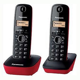 Téléphone sans fil Panasonic Corp. KX-TG1612SPR DECT (2 pcs) Negro