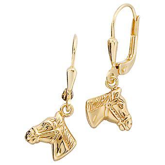 Kids Boutons Horse Heads Horses 333 Gold Yellow Gold Earrings Earrings Earrings