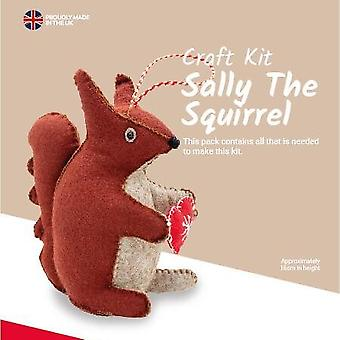 Sally the Squirrel Felt Sewing Kit