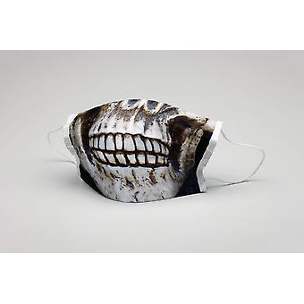 Ağız maskesi kafatası dişleri yıkanabilir maske koruyucu maske kafatası maskesi ökotex