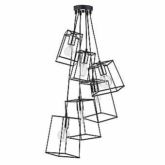Dar belysning Tower seks lys klynge vedhæng lys i Chrome