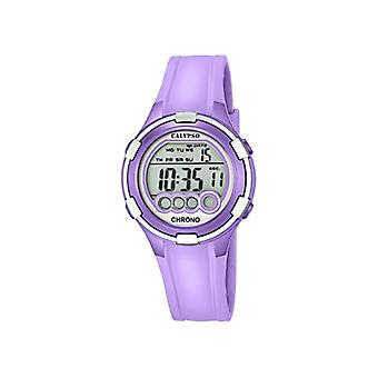 Calypso, digital watch, with digital display and LCD display, with purple plastic strap, K5692/8