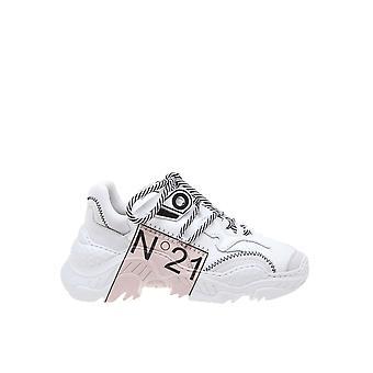N 21 0119fws00830086s001 Baskets en cuir blanc