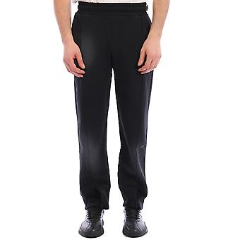 Una pared fría Acwmb013whlblack Hombres's Black Cotton Joggers
