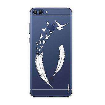 هال ل Huawei P الذكية 2018 نمط الريش المرن وطيور الطيران