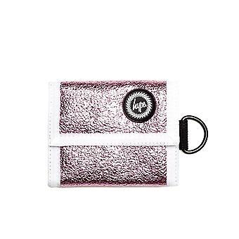 Hype Crinkle Foil Trifold Wallet Money Purse Pink