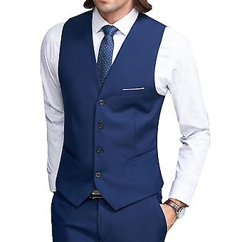 Allthemen mäns kostym väst tunn V-neck slim fit business casual Vest