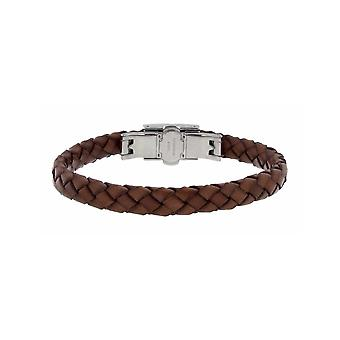ZOPPINI Brown Leather Bracelet