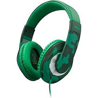 Trust Sonin Children Over-ear headphones Over-the-ear Volume limiter, Volume control Camouflage green