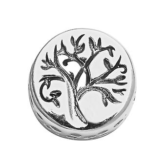 Sterling Silver Platinum Plated Tree Charm Best Gift for Women TJC