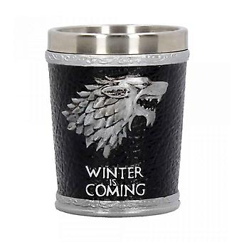 Game of Thrones Shot Glass Winter Is Coming new Official Hand Painted Black