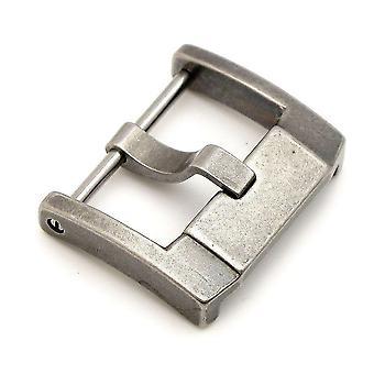 Strapcode Uhr Schnalle 18mm oder 22mm Edelstahl 316l Schraubschnalle iwc Stil retro roh