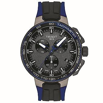 Tissot T111.417.37.441.06 T-Race Cycling Chronograph Blue and Black Rubber Men's Watch