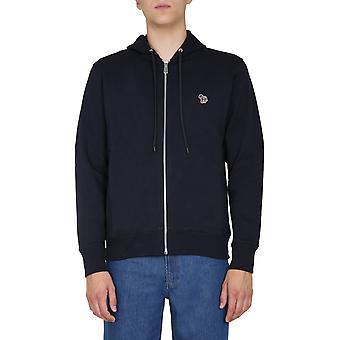 Ps By Paul Smith M2r360razebra49 Men's Blue Cotton Sweatshirt