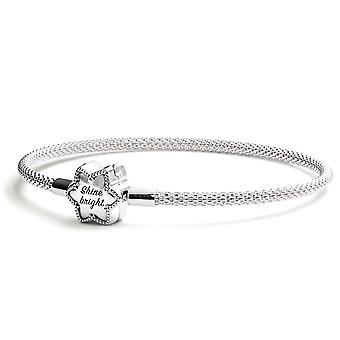 Pandora Moments Bright Snowflake Mesh Bracelet - 598616C01-21
