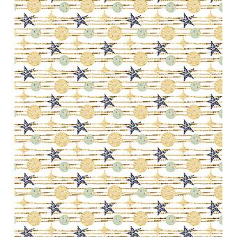 "Craft Consortium Decoupage Papers 13.75""X15.75"" 3/Pkg-White Stars"