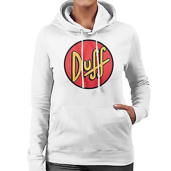 Simpsons Duff logo kvinnors Hooded tröja
