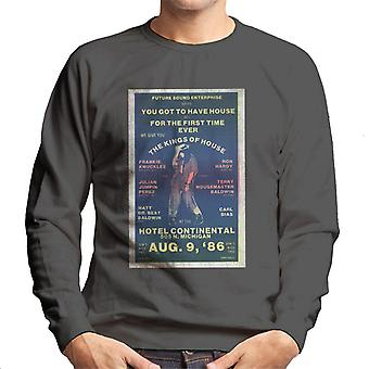 DJ International Kings Of House '86 Poster Men's Sweatshirt