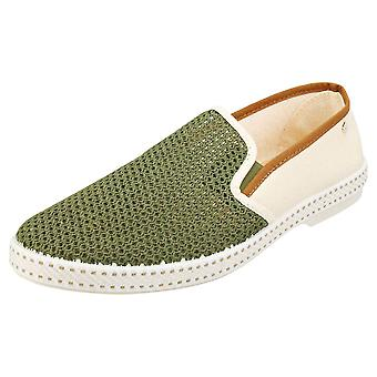 Rivieras Tdm Distar Mens Espadrille Shoes in Khaki White