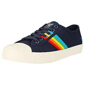 Gola Coaster Rainbow Womens Fashion Trainers in Navy Multicolor
