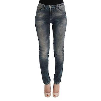 Blue Wash Katoenmix slim fit jeans--SIG3109104