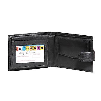 Primehide BASIC - Mens Leather Wallet - RFID Blocking - Preto / Marrom - 26