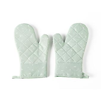 YANGFAN Non-Slip Kitchen Oven Mitts Heat Resistant Cooking Gloves