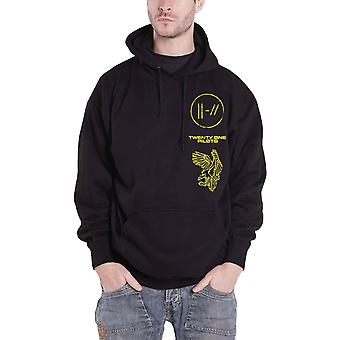 Twenty One Pilots Hoodie Trench Flyer Band Logo new Official Mens Black Pullover