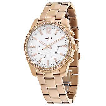 175, Fossil Women 's FTW5016 Quartz Rose gold Watch