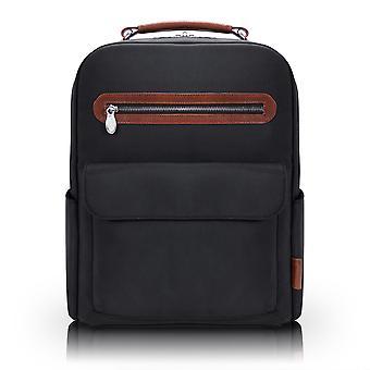 "79085, U Series, Logan 17"" Nylon, Two-Tone, Dual-Compartment, Laptop & Tablet Backpack - Black"
